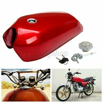 $69.34 • Buy Motorcycle Fuel Petrol Tank Cap Switch Kit Fit 9L 2.4 GAL For Honda CG125 Cafe