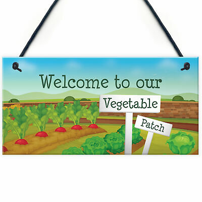 Vegetable Veggie Patch Welcome Garden Signs Allotment Garden Shed Plaques • 3.99£