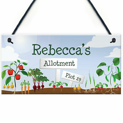 Personalised Hanging Garden Plaque Allotment Plot Shed Sign Mum Dad Nan Gift • 5.99£
