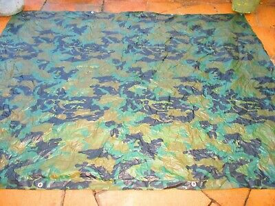 CAMOUFLAGE Strong Waterproof Tarpaulin Camping Ground Sheet & CAMOUFLAGE NETTING • 25£