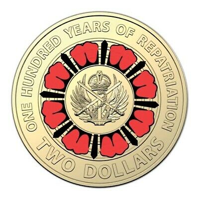 AU13.99 • Buy 2019 Australian 🇦🇺Two Dollar $2 Red Coin  Collectable Coin Rare ✨