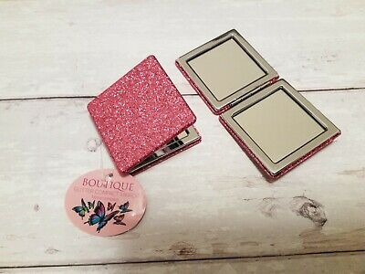 £4.25 • Buy Glitter Folding Compact Mirror Portable Pocket Magnifying Cosmetic Makeup Travel
