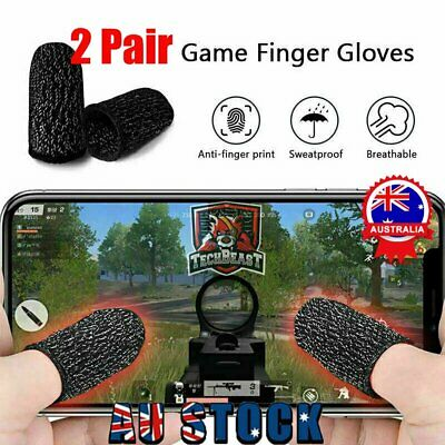 AU8.93 • Buy 4Pcs Finger Sleeve Touch Screen Non-slip Thumb Breathable Sleeve For Mobile Game