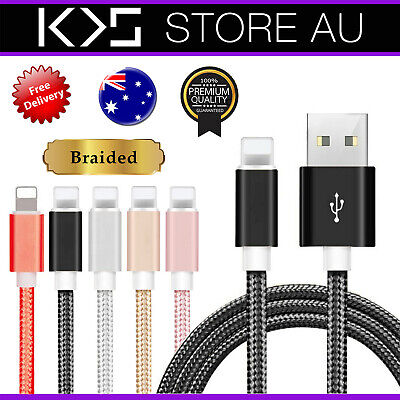 AU2.99 • Buy Braided USB Charging Phone Cable Data Cord Charger For IPhone 12 11 7 X 8 6 IPad