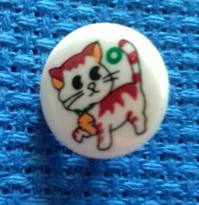 £1 • Buy A Pack Of 6 Childrens 15mm Cat Design Buttons -