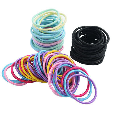 $ CDN2.56 • Buy Rubber Hair Bands Girls Women Elastics Rope Ponytail Holders Ties 100Pcs/lot F5