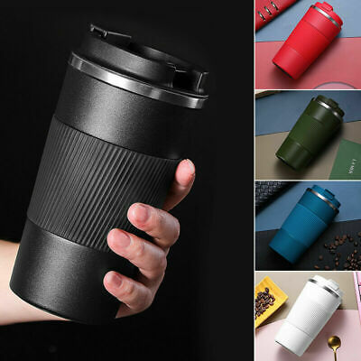 AU23.58 • Buy Insulated Travel Coffee Mug Cup Thermal Flask Vacuum Thermos Stainless Steel Hot