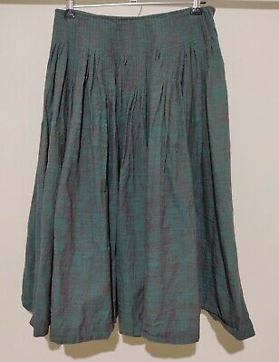 AU47.50 • Buy Gorman 100% Cotton Size 8 Forest Green Red Skirt Pleated