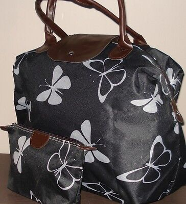 £16.99 • Buy Butterfly Print Travel Bag/Holdall And Matchiig Wash Bag