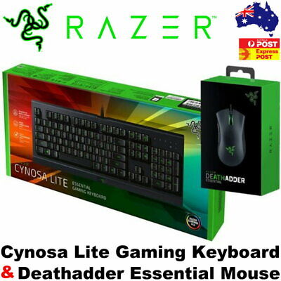 AU127.95 • Buy Razer Cynosa Lite Gaming Keyboard & Deathadder Essential Gaming Mouse Combo