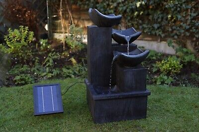 £1899 • Buy Battery Backup Garden Solar Powered Black Cascading Water Fountain Feature