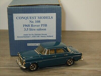 1968 Rover P5B 3.5 Litre Saloon - Conquest Models 108 England 1:43 In Box *49740 • 124.70£