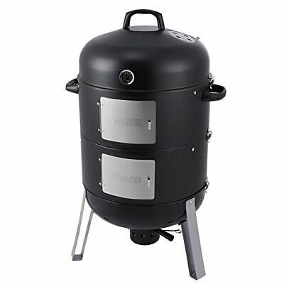 £170.99 • Buy Heavy Duty BBQ Charcoal Smoker Grill, 3-in-1 For Outdoor Cooking