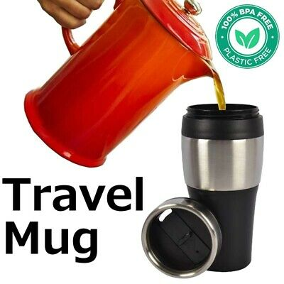 AU13.98 • Buy Insulated Thermos Water Travel Mug Vacuum Flask Hot Cold Drinks Coffee Cup 500ml