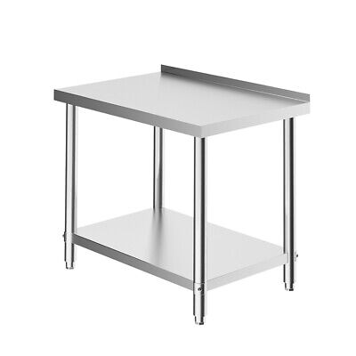 £159.95 • Buy Stainless Steel Prep Work Table Commercial Catering Workbench Kitchen Food Prep