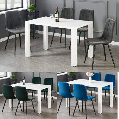 £75.99 • Buy 2/4/6 Dining Chairs Set Velvet Padded Seat Metal Legs Kitchen Chair Home Office