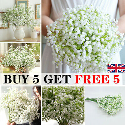 £3.39 • Buy Artificial Gypsophila Floral Flower Silk Wedding Party Bouquet Home Decor UK