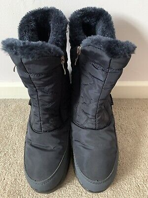 Pavers Navy Waterproof Boots Size 5/38 Winter • 25£