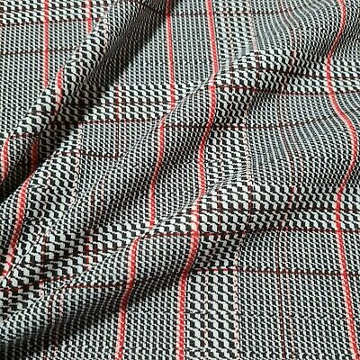 £5.49 • Buy Jersey Ponte Fabric Checked Dressmaking Sold By The Metre