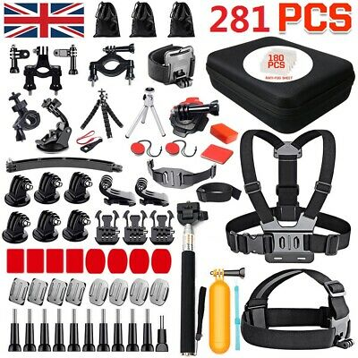 AU42.99 • Buy GoPro Hero 9 8 7 6 5 4 Accessories Case Pack Chest Head Floating Monopod Mount