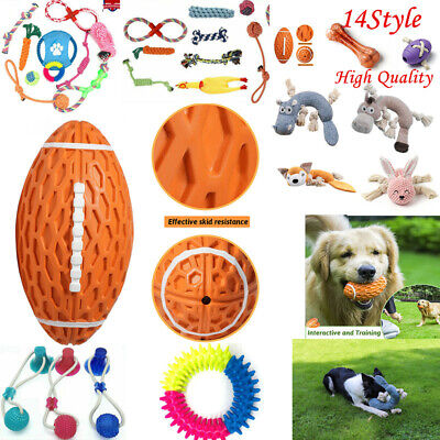 £3.99 • Buy Dog Rope Toys Kit Tough Strong Chew Knot Ball Pet Puppy Bear Cotton Toy