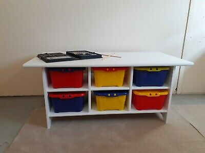 £95 • Buy Childs Play Table. Lego Table Or Craft Table With Storage Boxes.