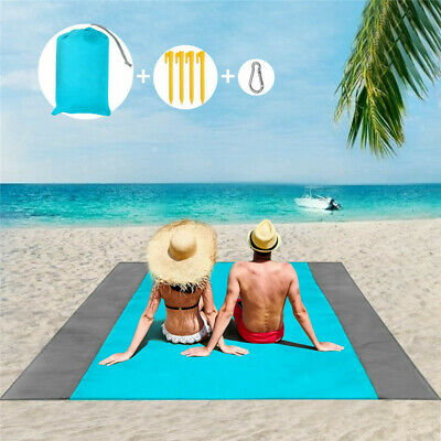 Anti Sand Outdoor Extra Large Picnic Blanket Travel Beach Camping Soft Mat Rug • 9.55£