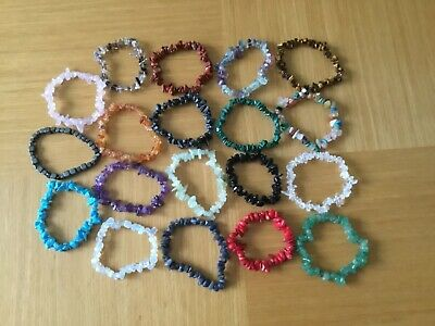 £2.59 • Buy Crystal Chip Stone Bracelets Various Crystals All High Grade All Reiki Cleansed