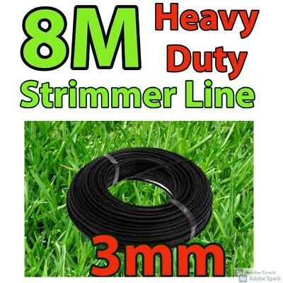 HEAVY DUTY 8 Metre X 3mm Strimmer Line Wire String Cord Nylon Petrol TRIMMER • 5.79£