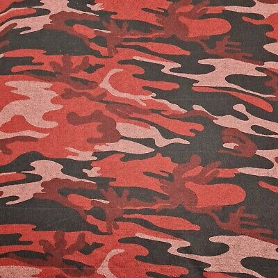 £4.99 • Buy Knit Jersey Fabric Camouflage Printed Sold By The Metre