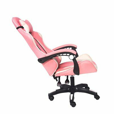 AU119.99 • Buy Gaming Chair Office Computer Seating Racing PU Executive Massage Pink White
