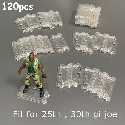 $ CDN42.45 • Buy Lot 120 Clear Stand Base For 25th 30th Anniversary 4'' GI JOE Action Figure Toys