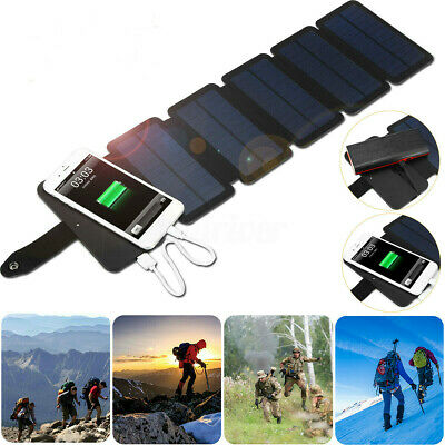 AU33.91 • Buy Portable Solar Panel Power Bank Mobile Phone Charger Waterproof Outdoor Camping
