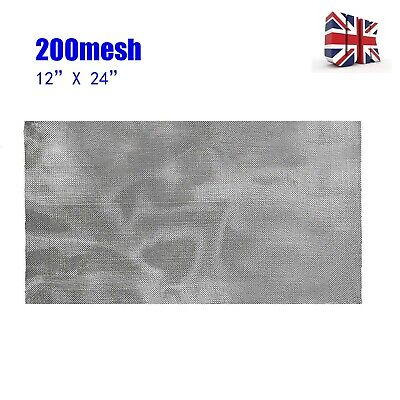 £6.99 • Buy 200 Mesh Filtration Woven Wire 75-Micron 304 Stainless-Steel Fine Pollen Screen