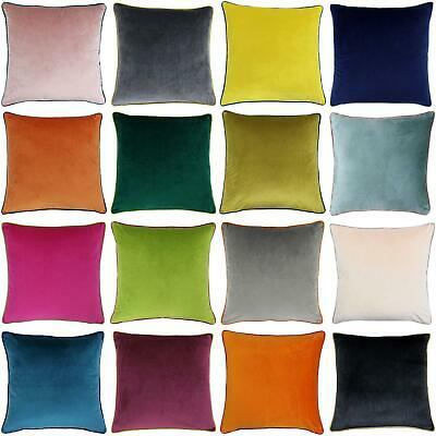 £8.49 • Buy Velvet Cushion Covers Meridian Piped Large Cushions Cover 22  X 22  By Paoletti