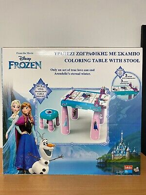 £21.95 • Buy Disney Frozen Colouring Table With Stool Inc 3 Meters Coloring Roll 39.5cm High