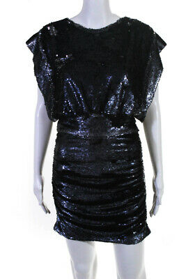 $ CDN109.55 • Buy Iro Womens Miracle Sequined Dress Midnight Blue Size EUR 40 11616357
