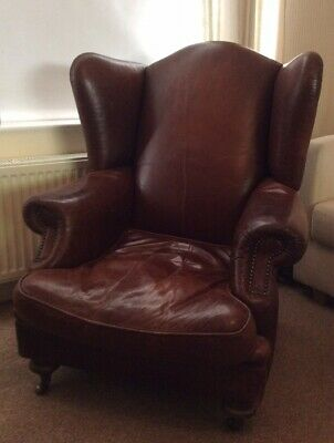 £395 • Buy Fired Earth Leather Wing Chair