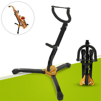 AU36.01 • Buy Alto Tenor Saxophone Sax Stand Tripod Holder HighStrength Metal Foldable NEW