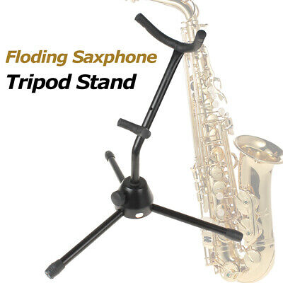AU26.90 • Buy Folding Saxophone Stand Tenor Alto Sax Rack Tripod Holder Protable Black