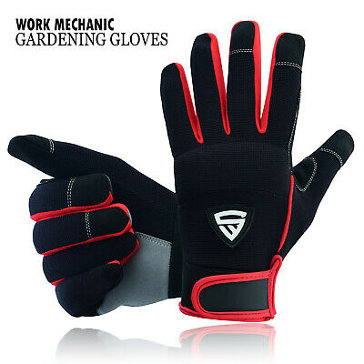 £6.49 • Buy Safety Work Gloves Heavy Duty Mechanic Gardening Builders Cut Hand Protection