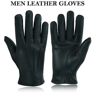 £8.99 • Buy Mens Driving Gloves Unlined Top Quality Soft Genuine Real Leather Goatskin Uk