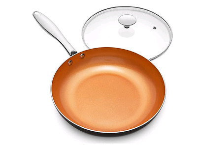 $84.98 • Buy Nonstick 8 Inch Frying Pan With Ceramic Titanium Coating Copper Frying Pan With