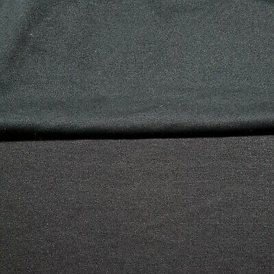 Ponte Jersey Fabric Black And Dark Brown Colours 55  Wide 2 Way Stretch • 4.99£