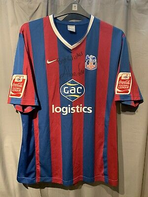 £149.99 • Buy Crystal Palace Home Football Shirt 09/10 - SIGNED BY ALAN LEE 2009 2010 XXL