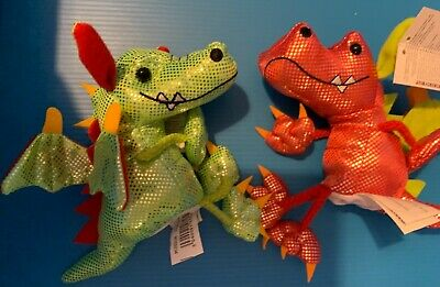 £6.50 • Buy The Puppet Company RED AND GREEN DRAGON FINGER PuppetS New With Tags Uk