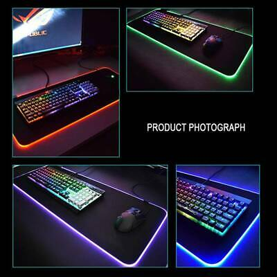 AU12.79 • Buy New LED Gaming Mouse Pad Large RGB Extended Mousepad Keyboard Desk Anti-slip Mat