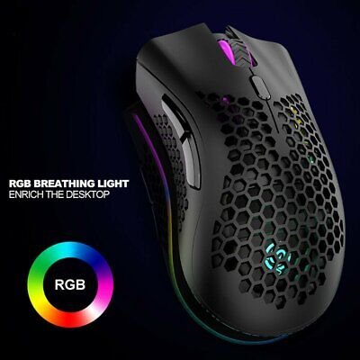 AU23.99 • Buy LED Wired Wireless Gaming Mouse USB Ergonomic Optical For PC Laptop Rechargeable