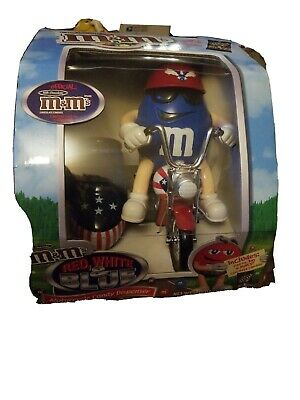 $30 • Buy M&M's Motorcycle Red-,White & Blue Freedom Dispenser BRAND NEW In Box Rare
