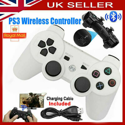 White Bluetooth Wireless Game Controller DualShock3 Gamepad For PS3 PlaySation3 • 8.39£